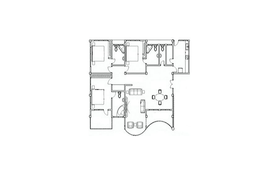 Typical Apartment Plan for Ghana Properties